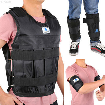 6E5C Empty Adjustable Weighted Vest Hand Leg Weight Exercise Fitness Training