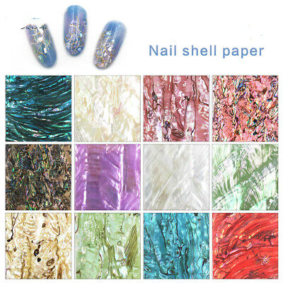 Nail Art Accessories-12 Color Shell Pieces Natural Thin Abalone Slices Wholesale
