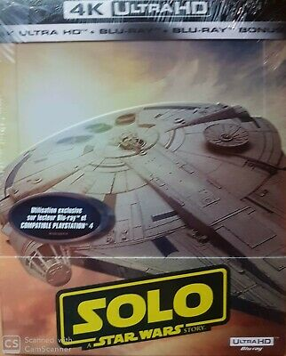 Solo Star Wars Steelbook 3D Et 2D Blu Ray Neuf Sous Cellophane