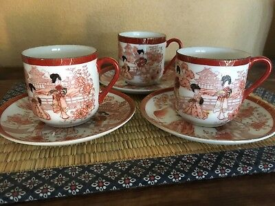 antique japanese demitasse cups and saucers