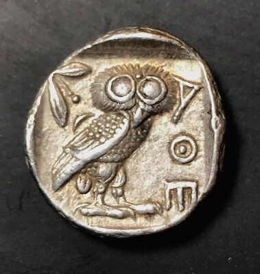 Ancient Greek Silver Coin Of Attica 454 - 415 Bc Tetradrachm. Extremely Fine!