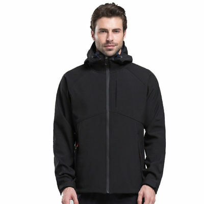 Men's Warm Fleece Lined Soft Shell Jacket Waterproof Outdoor Sport Coat