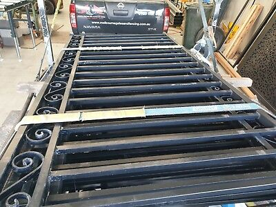 Powdercoated fence panels 8 panels  1000mm height  1600mm wide