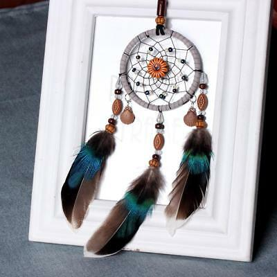 2018 Handmade Lace Dream Catcher Feather Bead Hanging Decoration Ornament Gift L