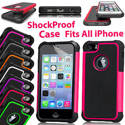 Shockproof Defender Rugged Case Cover For Apple iPhone 8 7 6S 5 SE X Protective
