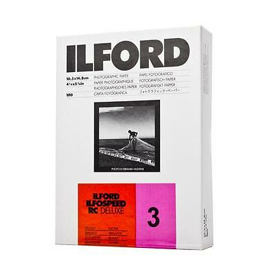 Ilford Ilfospeed Rc 10 2/12ft Deluxe Glossy 100 Sheet 4 1/8x5 13/16in 3 7/8x5