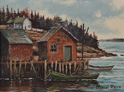 DANIEL PRICE Oil Painting Ocean Landscape New Brunswick Canadian Listed