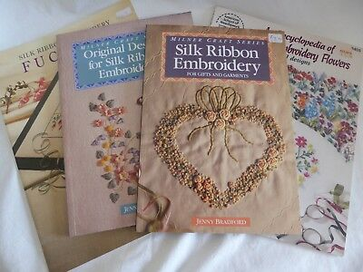 4 X Silk Ribbon Embroidery Books -  2 By Jenny Bradford &  1 By Deanna Hall West