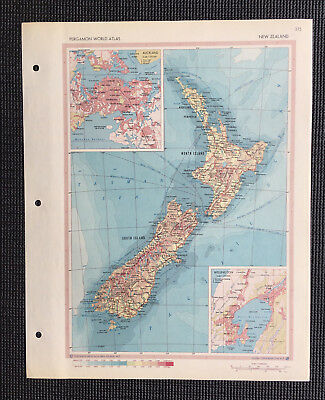 Map Of New Zealand  1967