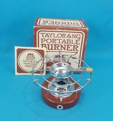 Vintage 1976 Taylor & NG Portable Cooking Burner Camping Table Stove Top Picnic