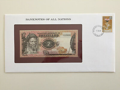 Banknotes of All Nations - Swaziland - 2 emalangeni - UNC