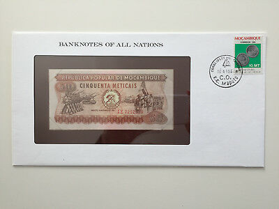 Banknotes of All Nations - Mozambique 50 Meticais UNC