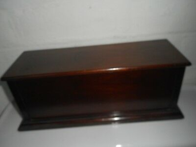 Wooden Box Unusual Good Condition  see pics very solid  see other boxes