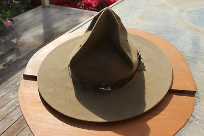 Antique Scout Hat With Wood Cover /jamboree