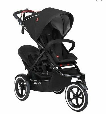 Phil & Teds Navigator V5 Black Double Seat Stroller With Accessories