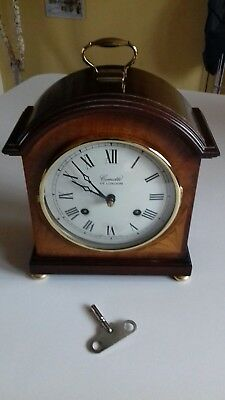 Antique Style COMITTI LONDON Mahogany Bracket Mantel Clock WESTMINSTER CHIMES