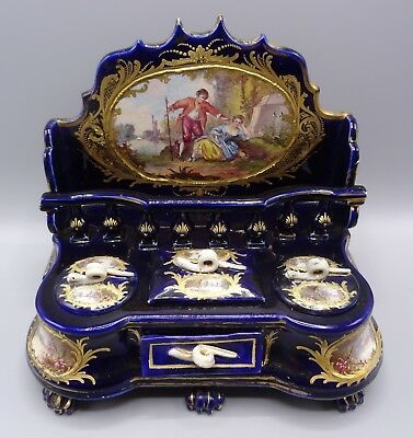Beautiful Rare Hand Painted Sevres Desk Writing Centrepiece