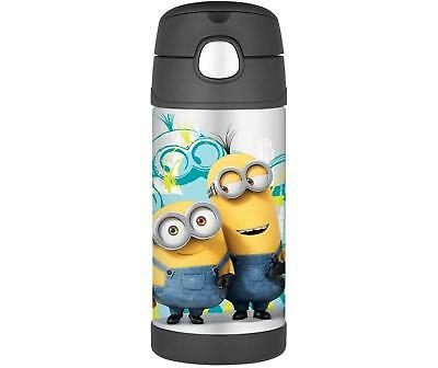 Thermos Funtainer Vacuum Insulated Stainless Steel Bottle (12 oz/ Minions)