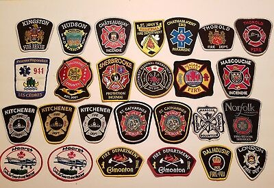 CANADIAN Fire/Rescue/EMS Patches - Huge LOT of 78