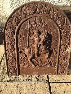 Cast Iron Fire Back with Mounted Rider