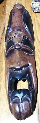 African Mask Wall Hanging Wood Carved Mask