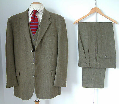 """3 PIECE TWEED SUIT..MADE IN ENGLAND..JAEGER..42"""" x 36""""..GOODWOOD..CHAP..COUNTRY"""