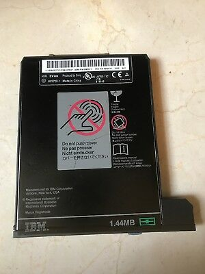 IBM floppy disk drive insertable w/ some T and A Thinkpads, p/n 08K9578, 08K9577
