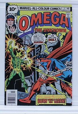 marvel comic omega #3 1976 the unknown pence edition British