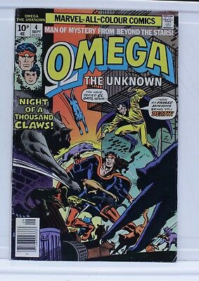 Marvel comic omega #4 1976 night of the thousand claws pence edition