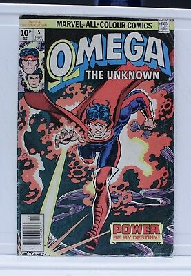 marvel comic omega #5 1976 the unknown pence edition