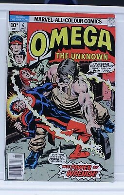 marvel comic omega #6 1976 the unknown UK pence edition
