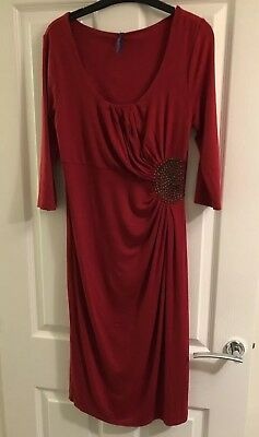 Maternity Seraphine Red Party Dress Size 1 (approx Size 10)