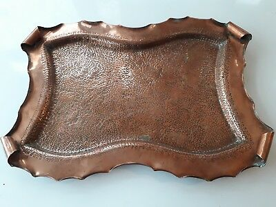 Antique Arts And Cafts Copper Tray . Hand Made .  No Damage