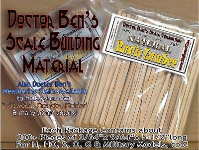 Rustic Scale Lumber-NATURAL FINISH 300Pcs Doctor Ben's Scale Consortium  ppa02