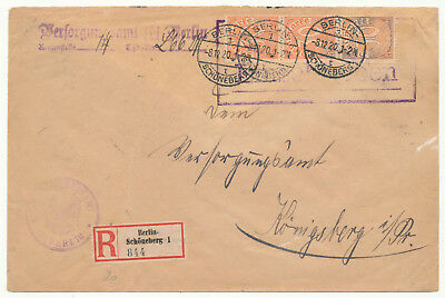 """Germany Reich Official Dienstmarke # D 27 Strip/3 Variety """"berlin"""" R-Cover (1920"""