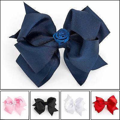 Girls School Hair Bow Girls Clips Kids School Ribbon Bow Slides Accessory Bow Uk