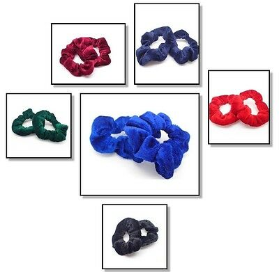 2x SCHOOL HAIR SCRUNCHIES ELASTIC BOBBLES BAND SCRUNCHY HAIR SCRUNCHIE SCHOOL UK