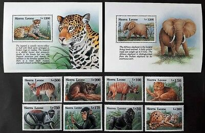 Sierra Leone 1993** MI.2050-59 Animals MNH [22,61]