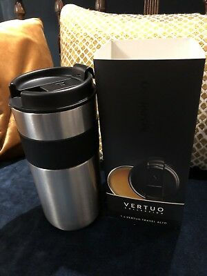 Nespresso Vertuo Travel Mug Double walled Stainless Steel 400ml Brand New in Box