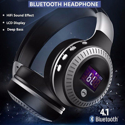 New Wireless Bluetooth Headphone With Noise Cancelling Over-Ear Stereo Earphone