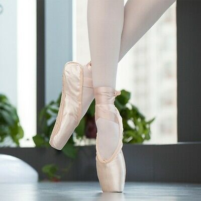 Ballet Shoes Dancing Training Shoes Yoga Gymnastic Satin Ribbon Toe Pointe Shoes