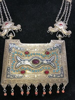 Early 20th Century Turkman amulet necklace.