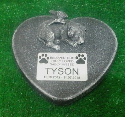 Dog Large Pet Memorial/headstone/stone/grave marker/memorial with plaque 15