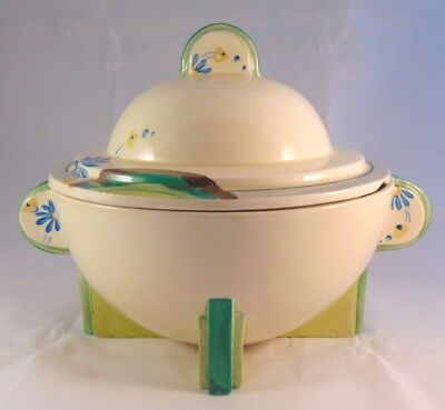 CLARICE CLIFF BIZARRE TUREEN COVERED DISH  ART DECO RARE 1920-30's