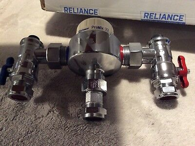 Reliance thermostatic mixing valve Promix 22-2. For bath fill applications