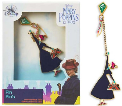 NEW! Disney Store Mary Poppins Returns Pin Kite with Chain Limited Edition 1500