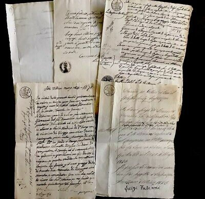 1800s Collection of Six Handwritten Documents