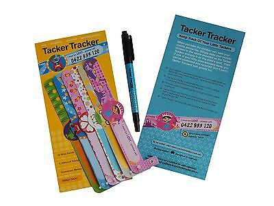 Child Safety Wrist Bands-Mixed ( x12 per package for boys and girls)