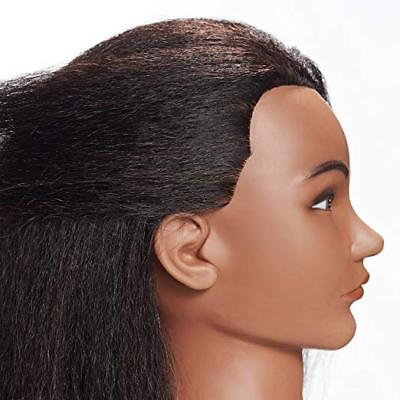 Afro American Cosmetology Mannequin Head  Hairdresser Training 100% Human Hair