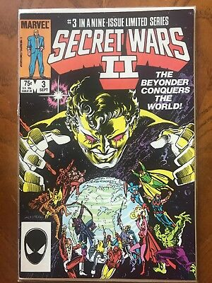Secret Wars 2 Number 3 First Appearance Of The Beyonder  In Human Form.
